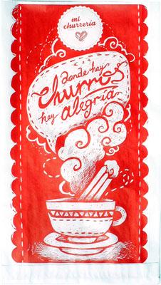 Bolsas para churros Mi Churreria PEQUEÑA (18x33) pack de 1000 uds.