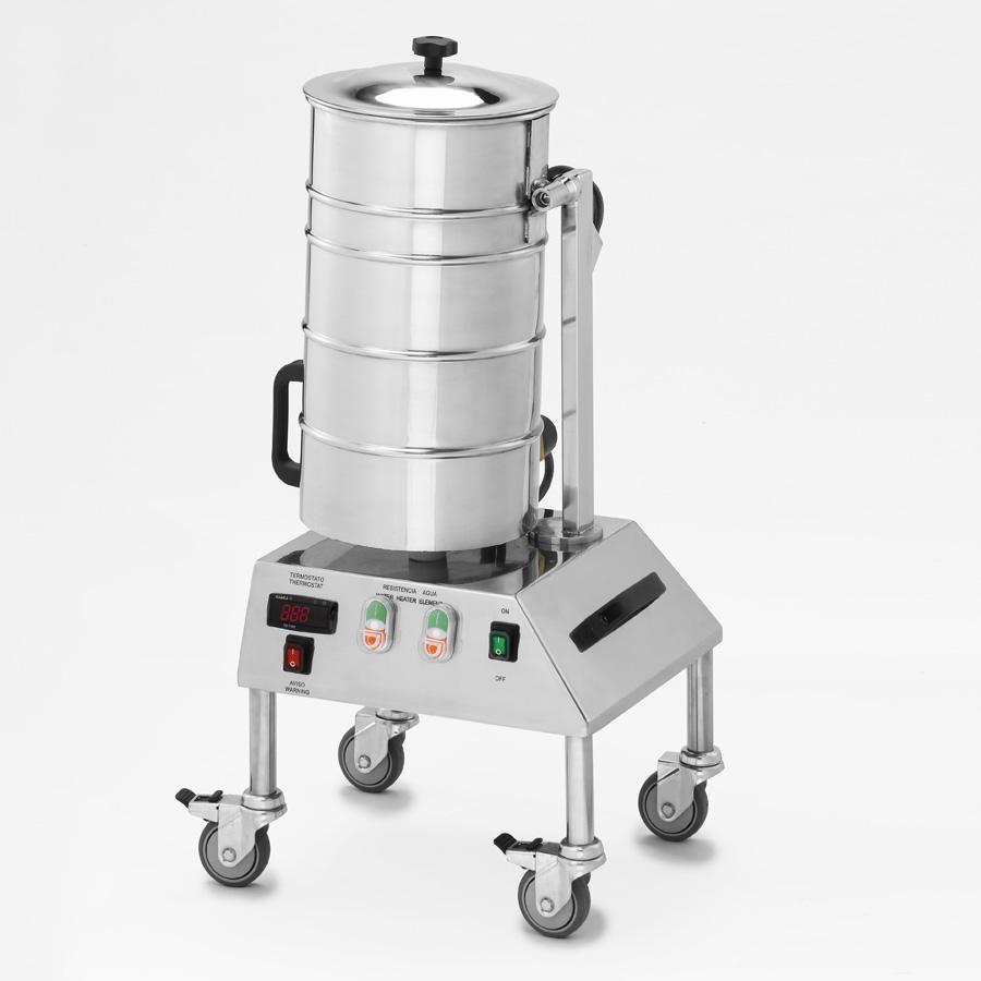 Calentador de agua basculante de 17,5 litros trifásico 380V con termostato digital