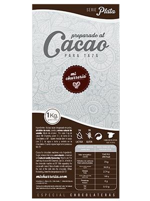 Preparado al Cacao Mi Churrería PLATA (caja de 12 Kg)